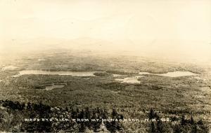 NH - Mt Monadnock. Bird's Eye View from Summit