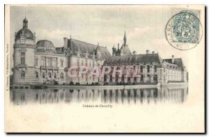 Postcard Old Chateau De Chantilly