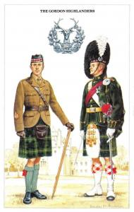 Postcard The British Army Series No.51 The Gordon Highlanders by Geoff White