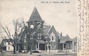 IOLA, Kansas, PU-1907; First M. E. Church
