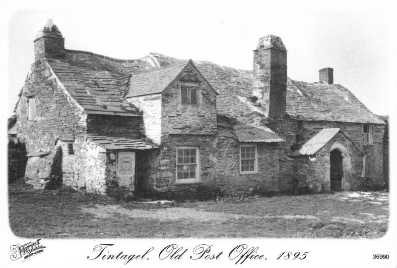 Postcard TINTAGEL Old Post Office 1895 Cornwall Francis Frith Collection Repro