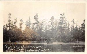 G39/ Interlochen Michigan RPPC Postcard Park Store State Park Lake