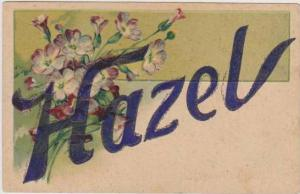Hazel Trimmed in Glitter w/ Purple Flowers ,1900-10s