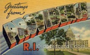 Providence, Rhode Island Large Letter Town Towns Post Cards Postcards  Provid...