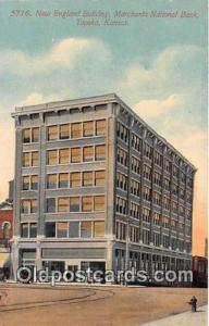 New England Building, Merchants National Bank Topeka, Kansas, USA Postcard Po...
