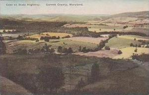 Maryland Garrett County Cove On State Highway Handcolored Albertype