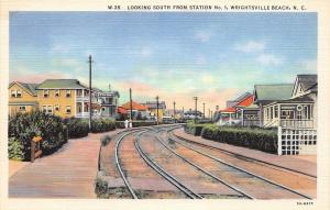 E15/ Wrightsville Beach North Carolina NC Postcard c1910 South Station Railroad5