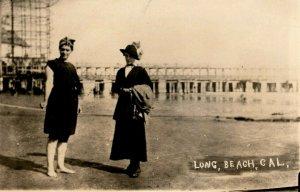 c1910 Girls Swimming Long Beach California CA RPPC Photo Antique Postcard