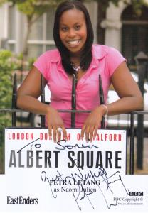 Petra Letang Naomi Julien Eastenders Hand Signed BBC Cast Card Photo
