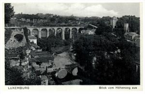 Luxemburg   Blick vom Hohenweg aus Bridge
