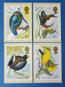 Set of 4 PHQ Stamp Postcards Set No.41 Water Birds 1980 CE4