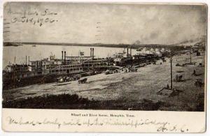 Wharf & River Scene, Memphis TN