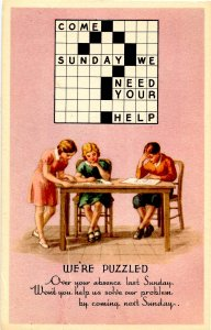 We're Puzzled-- We Missed You at Sunday School