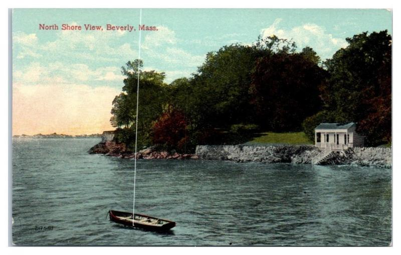 Early 1900s North Shore View, Beverly, MA Postcard