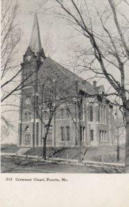FAYETTE, Missouri, 1900-10s; Centenary Chapel