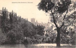 Spain Old Vintage Antique Post Card Rio Eresma y Alcazar Segovia Unused