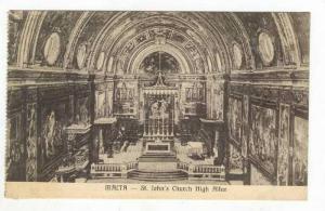 St. John's Church High Altar, Malta, 1900-1910s