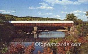 Blair, Campton, NH USA Covered Bridge Postcard Post Card Old Vintage Antique ...