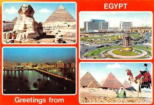 Africa Egypt The Sphinx Pyramids Riding Camel Square Auto Cars Bridge Panorama