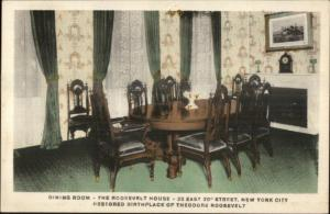 New York City Teddy Roosevelt House Dining Room East 20th St. Postcard c1910