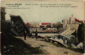 CPA CHOISY-au-BAC-Le pont detruit par le Genie Francais (423902)
