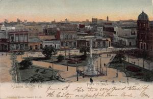 Rosario de Santa Fe, Plaza 25 Mayo, Argentina, Early Postcard, Used