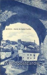 Spain Postcard España Tarjeta Postal Barrio de Santa Cecilia, Ronda Ronda Ba...