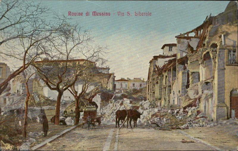 Messina Via S Liberale terremoto earthquake Italy 1908