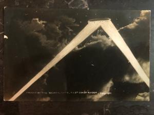 Mint Germany 1916 RPPC Postcard Zeppelin bomber Coastal Raid Over England WW1