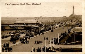 UK - England, Blackpool. South Shore Promenade and Tower