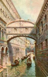 Italy - Venice, Bridge of Sighs   *Artist Signed: A. Scrocchi