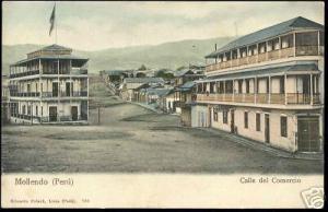 peru, MOLLENDO, Calle del Comercio (ca. 1899)