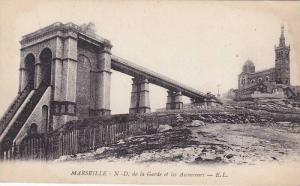 MARSEILLE, Notre Dame de la Gorde et les Ascenseurs, Bouches-du-Rhone, France...