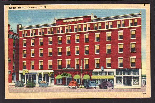 Eagle Hotel Concord NH Post Card  5377