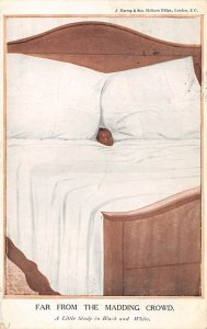 Blacks Post Card Far From the Madding Croud Child in Bed 1912