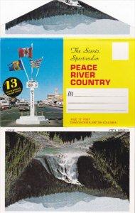 Folder Postcard : Peace River Country , B.C. , Canada , 50-60s