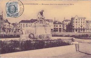 Belgium Blankenberghe Monument eleve a la memoire de nos Heros 1928