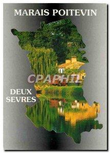 Postcard Modern Marais Poitevin Deux Sevres The cathedrake of Greenery