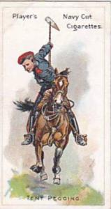 Player Vintage Cigarette Card Riders Of The World 1905 No 10 Tent Pegging