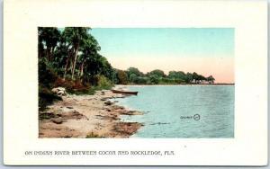Vintage Florida Postcard On Indian River Between Cocoa & Rockledge c1910s