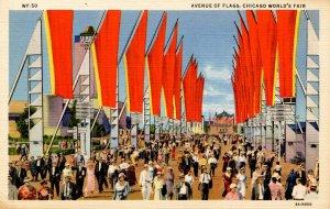 IL - Chicago. 1933 World's Fair, Century of Progress. Avenue of Flags