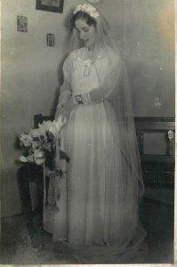 Bride dress photo dated 1960