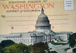 c.1920 Washington DC Vintage Postcard Souvenir Folder