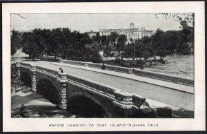 New York NIAGARA FALLS Bridge leading to Goat Island - Und/B
