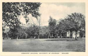 Boulder Colorado University Chemistry Building Antique Postcard J51319