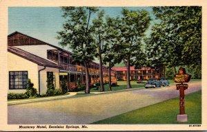 Missouri Excelsior Springs Monterey Motel Curteich