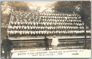 KINGSTON N.Y. 250th ANNIVERSARY 1908 ANTIQUE REAL PHOTO POSTCARD RPPC