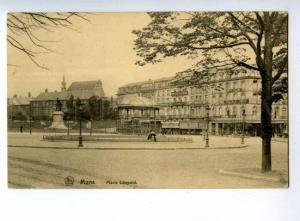150824 BELGIUM MONS Place Leopold Vintage postcard