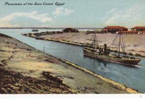 SUEZ, Egypt, 1900-1910´s; Panorama Of The Suez Canal