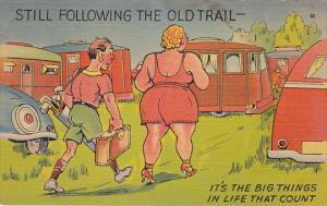 1930-1940's; Man Following A Woman, Still Following The Old Trail- It's The ...